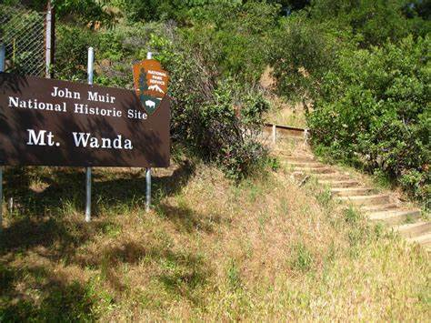 Entrance and sign to the Mt. Wanda trail on the Muir family farm