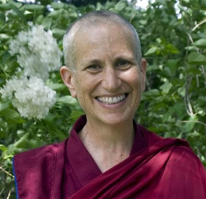 Venerable Thubten Chodron abess of sravasti monastery and co-author with the dalai lama