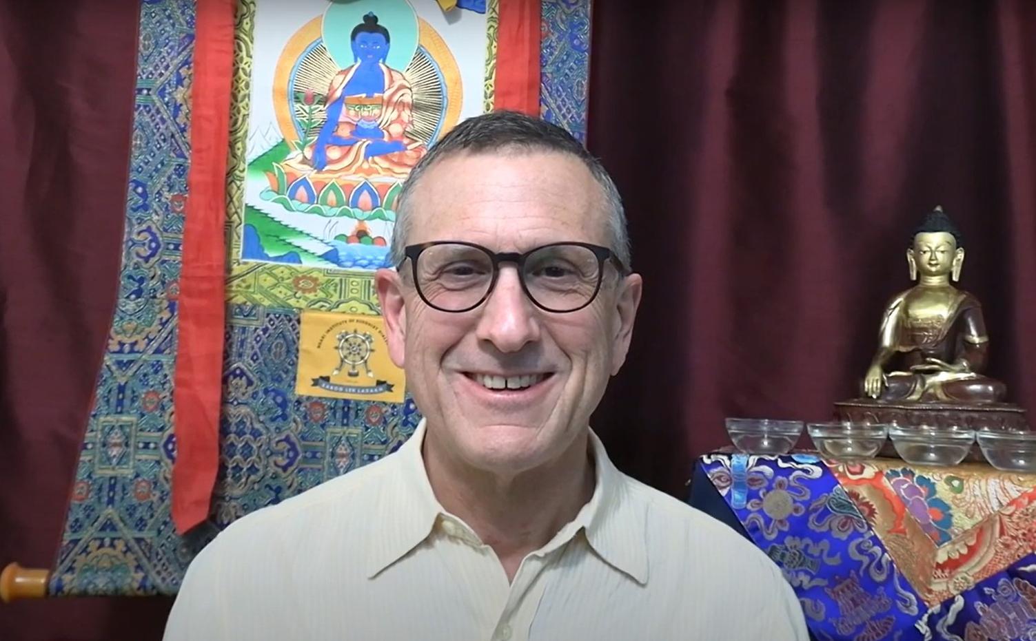 Lama Yeshe Jinpa discusses H.H. Dalai Lama Avalokiteshvara empowerment