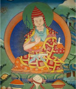 Tibetan Thangka of Shantideva
