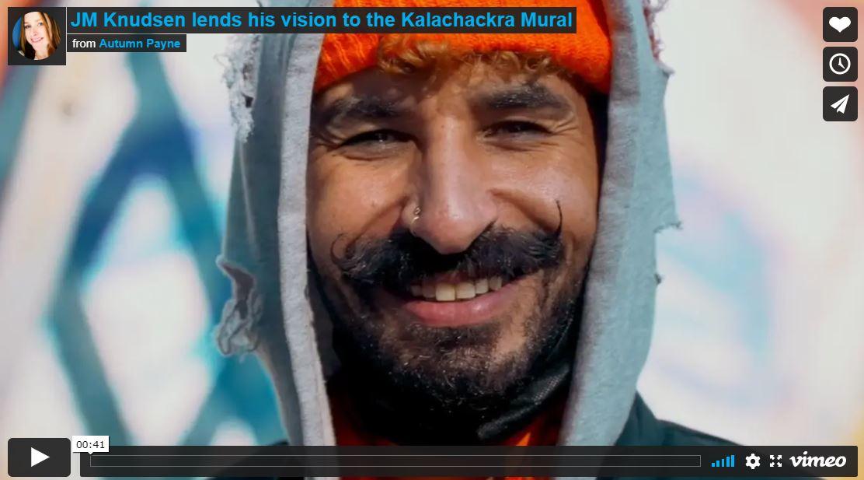 Jonny Knudsen working on the Kalachakra Mural