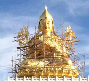 Statue being built of Tsongkhapa at Ngari institute in ladakh india