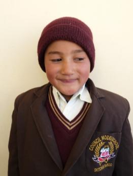 Deldan Namgail, featured third grader at the ngari institute ladakh india